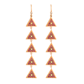 Sahara Link Rose Gold Earrings