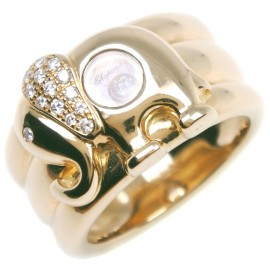 Chopard 18k yellow gold/diamond Happy Ring