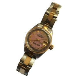 Rolex Pink Mother of  Pearl Twotone Ladies Watch