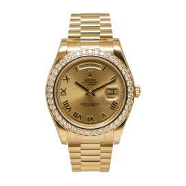 Rolex Oyster Perpetual Day-Date II 218348 CHRP 18K Yellow Gold Watch