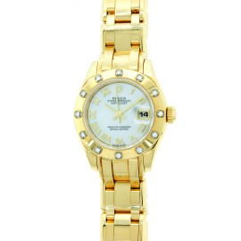 Rolex 18K Yellow Gold Pearlmaster 80318 Gold Watch
