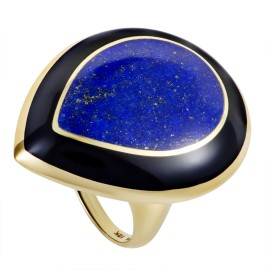 Ippolita Rock Candy 18K Yellow Gold Lapis and Onyx Teardrop Ring