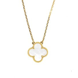 Van Cleef & Arpels 18k Yellow Gold Mother of Pearl Necklace