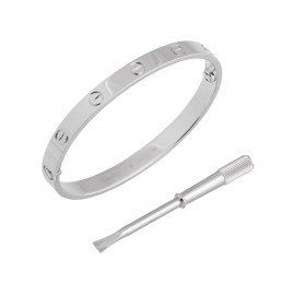 Cartier Love Bracelet White Gold Size 18