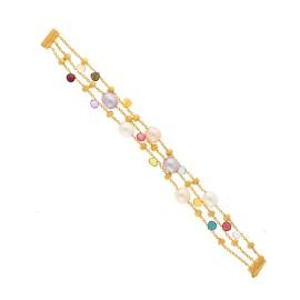 Marco Bicego 18K Yellow Gold with Paradise Mixed Gemstone Bracelet