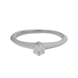 Tiffany & Co. Platinum Diamond Ring Size 5.25