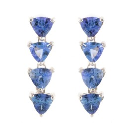Sterling Silver 8.00ct. Tanzanite Dangle Earrings