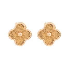 Van Cleef & Arpels 18K Yellow Gold Alhambra Earrings
