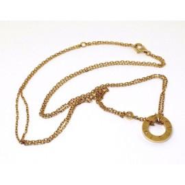 Cartier Love 18K Yellow  Gold Diamond Pendant Necklace