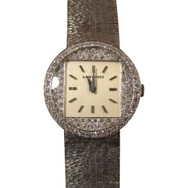 Longines Unisex 14K White Gold Mechanical Movement Vintage Watch