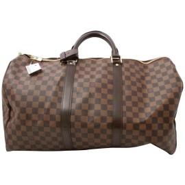 Louis Vuitton Damier Ebene  Keepall 50 Boston Duffle MM 861375