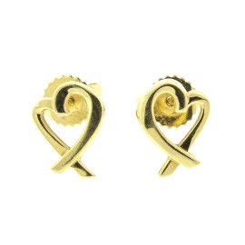 Tiffany & Co. Paloma Picasso 18k Yellow Gold Loving Heart Earrings