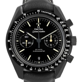 Omega Speedmaster 311.92.44.51.01.004 Black Ceramic & Leather Authomatic 44.25mm Mens Watch