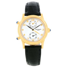 Patek Philippe Calatrava 4864J 18K Yellow Gold & Leather Manual 29mm Womens Watch