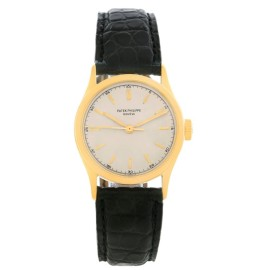 Patek Philippe Calatrava 2457 18K Yellow Gold 31mm Mens Watch 1951