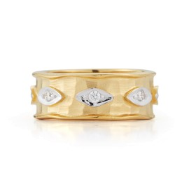 I.Reiss 14K Yellow Gold 0.1 Ring Size 7