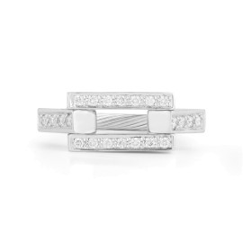 I.Reiss 14k White Gold 0.2 Ring Size 7