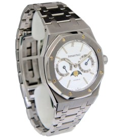 Audemars Piguet Royal Oak Steel Day Date Moon Phase Mens Watch