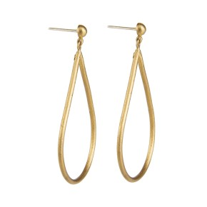 Yossi Harari Jewelry 24k Gold Jane Oval Earrings