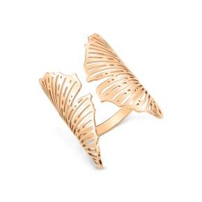 GINETTE NY 18K Rose Gold Large Open Gingko Ring