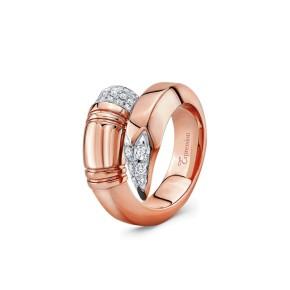 TZURI Rose Gold Large Signature Ring