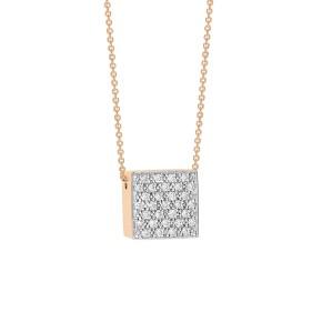 Diamond Ever Square Necklace
