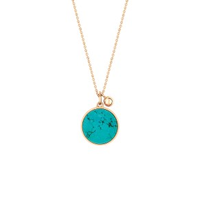 Ever Turquoise Disc On Chain