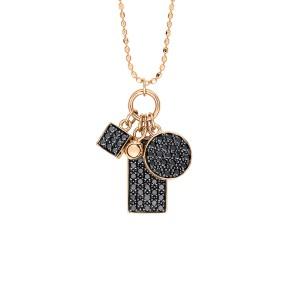 Mini Black Diamond Ever Charm Necklace