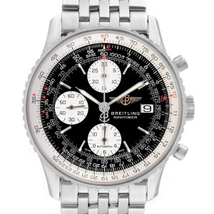 Breitling Navitimer II Black Dial Chronograph Mens Watch A13322
