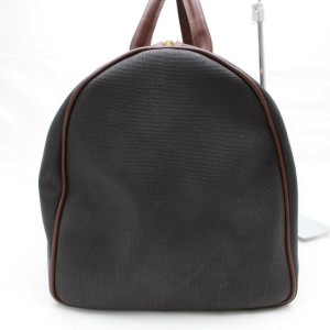 Alfred Dunhill Duffle ( Rare ) Boston 82125 Black Canvas Weekend/Travel Bag