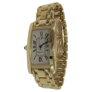 Cartier Tank Americaine W26035K2 26mm Mens Watch