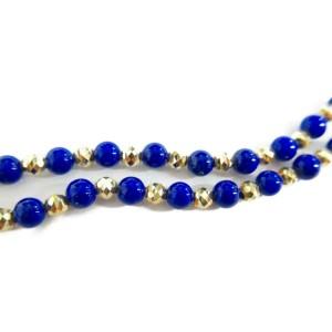 JEWELRY 18K yellow gold Lapis lazuli Necklace RCB-55