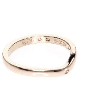 Cartier 18K Pink Gold Ballerina Wedding Ring Size 4.5