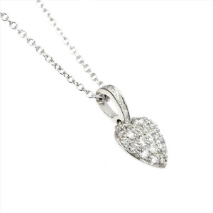TIFFANY & Co. Platinum Heart Diamond Necklace