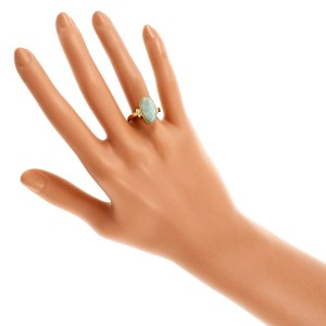 18K Yellow Gold with Opal Ring Size 6.75