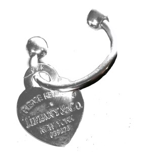 Tiffany & Co. Heart Charm Key ring