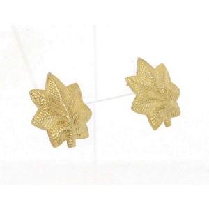 Tiffany & Co. Vintage 14k Yellow Gold Leaf Design Stud Earrings