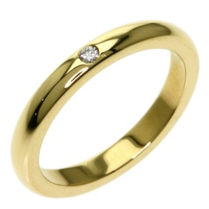 TIFFANY & Co. 18k Yellow Gold Diamond 0.1 Stacking band Ring