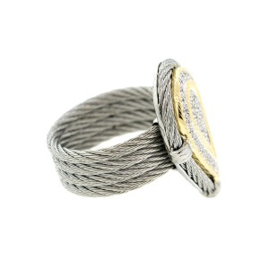 Alor 18K Yellow Gold/Stainless steel & GRAY Stainless steel RING
