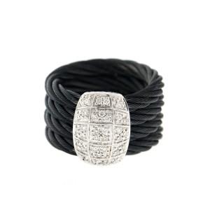 Alor 18K White Gold/Stainless steel & Black PVD RING