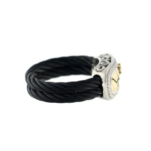 Alor 18K Yellow Gold & Stainless steel & Black PVD RING