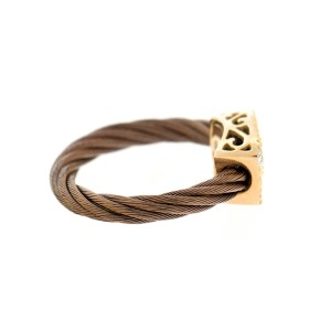 Alor 18K Yellow Gold & BRONZE PVD RING