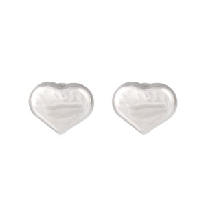 Roberto Coin 18K White Gold Heart Stud Earrings