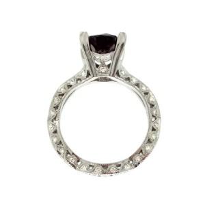 Tacori 18K White Gold .85ctw Diamond Ring Size 6.5
