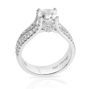 Michael M Diamond Engagement Ring Setting in 18K White Gold (0.65 CTW)