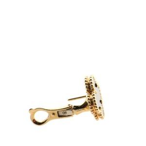 Van Cleef & Arpels Vintage Alhambra Clip-On Earrings 18K Yellow Gold and Onyx