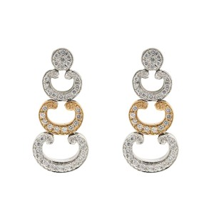 Alor 18K Rose Gold & White Gold Earring