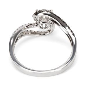 BRAND NEW Diamond Swirl Engagement Ring in 14K White Gold (0.50 CTW)