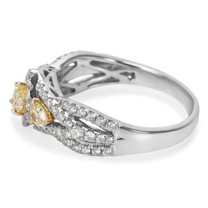 BRAND NEW Yellow Diamond Ring in 14K White Gold (1.00 CTW)