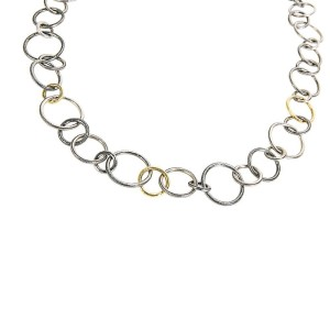 BRAND NEW Gurhan Hoop Necklace in Sterling Silver MSRP 6725